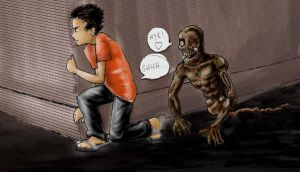playing spooky game 03 colour by jerungan