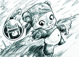 Destroying Panda by Claudiney