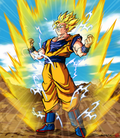 Dragonball Son Goku SSJ2 by Nostal