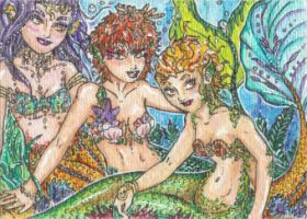 The Sirens (ACEO) by Keyshe54