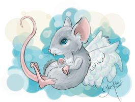 Winged Mouse by Faeriedreamer