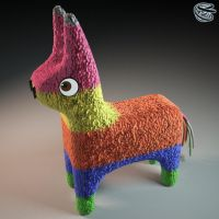 Pinata by zipper