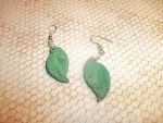 Leaf Earrings by Skisicsmalone