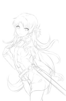 Asuna WIP (Sword Art Online Ordinal Scale) by Fhilippe124