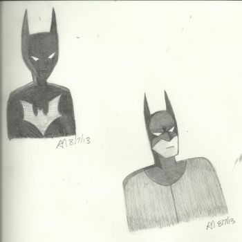 Batman Past and Future by Kindra-Mckleen