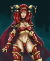 Alexstrasza color by raimy329