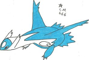 Latios Sketch, Redone (Coloured) by CoolMan666