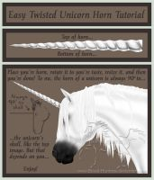 Twisted Unicorn Horn Tutorial Placement 2011 by Blood-Huntress