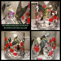 Hummingbirds Clear Glass by InkyDreamz