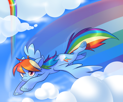 rainboom by emilylikesaliens