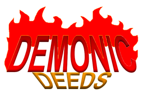Demonic Deeds title by bamfudge