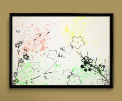 flowers watercolor print by ColourInk