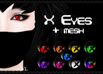 X Eyes Fatpack + MESH (Second Life) by KatieKx