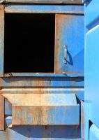 Blue Dumpster Opening Stock Photo 0145 by annamae22