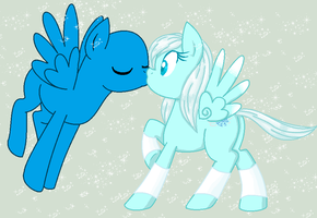 Suprise Kiss -MLP Collab- by PockyHunter