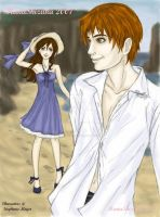 Edward and Bella at the Beach by HanaShizuka
