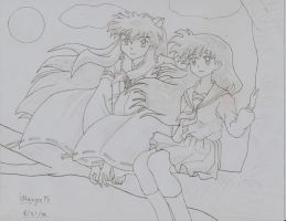 Inuyasha and Kagome by iNguyen95