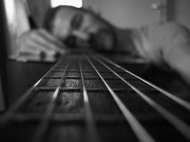 Me and my guitar by Khudozhnik