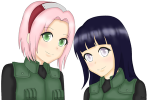 Sakura and Hinata by RandomEpicAlex