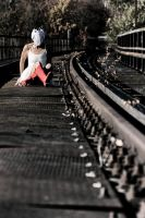 Waiting for the train. by laufcultur