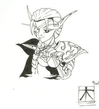 Night Elf Lineart Preview by arboris