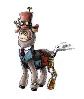 Steampunk Alpaca by Tobsen85