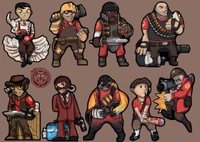 TF2 RED Stickers by Rachez