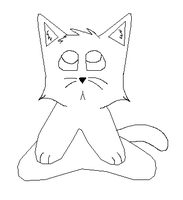 Bored Cat Free Lineart by sky-lover10