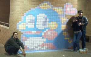 Bubble Bobble Chalk Art 3 by yooki42