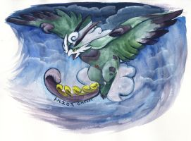 Pokeddex Day 3 - Flying by Porcubird