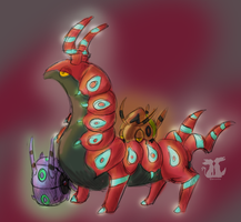 Scolipede by wingedphantasy