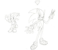 Sonic's 20th: Classic Shadow Modern Sonic by Hyperchaotix