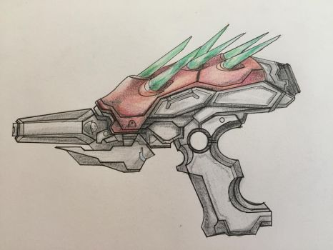 Halo Concept - Needle Pistol by ninboy01