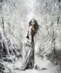 The queen of the snow forest by SweetDreamsArt