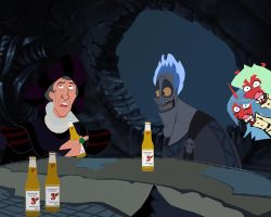 Frollo and Hades drinking Sol in the Underworld! by AndrewSS23
