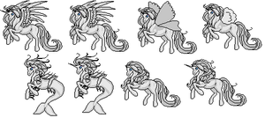 Pony Lineart by PinkCaribou