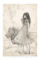 Dorothy and The Lion by AlyFell