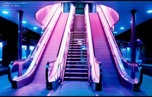 Escalators in copenhagen by D-BH