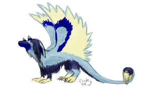 furry dragon thing by zookydragon