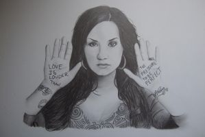 Demi Lovato Sketch by Gabgab3010