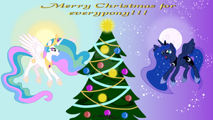 Merry Christmas for everypony by AgnessAngel