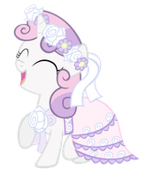 Sweetie Belle in a Dress by RainbowDerp98