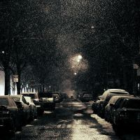 New York: Snowfall Night. by inbrainstorm