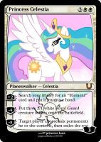MLP_FiM_MTG- Princess Celestia by pegasusBrohoof