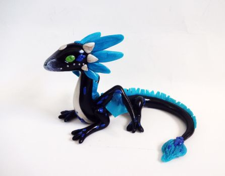Serpentine Blue Dragon by ByToothAndClaw