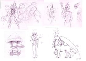 Collected characters by Safirah