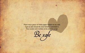 Be Safe Wallpaper by Wind-Up-Doll