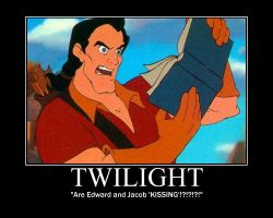 Gaston Reads Twilight by LivingShadowDarkMark