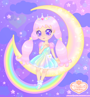 Plastic Moon Princess by Princess-Peachie