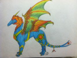 Arzonian Dragon -colored- by CloudClipper